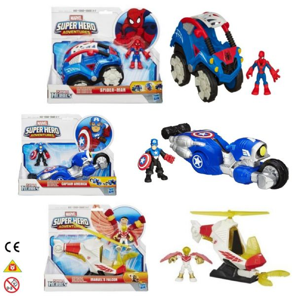 Marvel superhero adventures Spider-Man, Captain America or Falcon Toy Playset